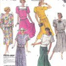 McCall's Sewing Pattern 2988 Misses Size 10 Two Piece Dress Pullover Tops Gathered Skirts