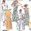 McCall's Sewing Pattern 3015 Misses Size 8 Easy Two Piece Dress Sun Top Gathered Skirt