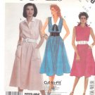 McCall's Sewing Pattern 3118 Misses Size 6-10 Summer Sleeveless Shirtwaist Dress Collar Options