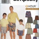 Simplicity Sewing Pattern 9958 Mens Size XS-XL Boys Size XS-XL 1 Hour Elastic Waist Boxer Shorts