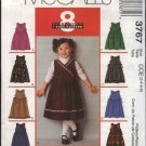 McCall's Sewing Pattern 3767 Girls Size 3-6 Easy Lined Gathered Skirt Jumper