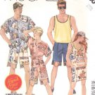 McCall's Sewing Pattern 3180 Unisex Mens Misses Size Small Tank Top Shirt Shorts Skirt French Fryzz