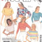 McCall's Sewing Pattern 3190 Misses Size 6-10 Easy Knit Pullover Cropped Long Tops Sleeve Options