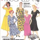McCall's Sewing Pattern 3192 Misses Size 6-10 Easy Basic Knit Pullover Dropped Waist Dress