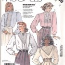 McCall's Sewing Pattern 3239 Misses Size 8 Pullover Long Sleeve Lace Trimmed Blouses Tops