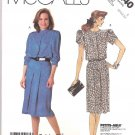 McCall's Sewing Pattern 3240 Misses Size 10-14 Back Button Dress Sleeve Neckline Options