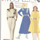 McCall's Sewing Pattern 3358 Misses Size 12 Easy Knit Long Sleeve Full Skirt Dress Jumpsuit Applique