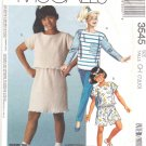 McCall's Sewing Pattern 3545 Girls Size 7-10 Easy Knit Wardrobe Pullover Top Shorts Pants Skirt