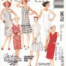 McCall's Sewing Pattern 3672 Misses Size 6-10 Easy Classic Straight Sheath Dropped Waist Dress