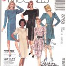 McCall's Sewing Pattern 3758 Misses Size 8-12 Easy Classic Straight Dress Peplum Apron Belt