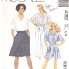 McCall's Sewing Pattern 4182 Misses Size 8-10 Blouse Culottes Pants Split Skirt Shirt Top