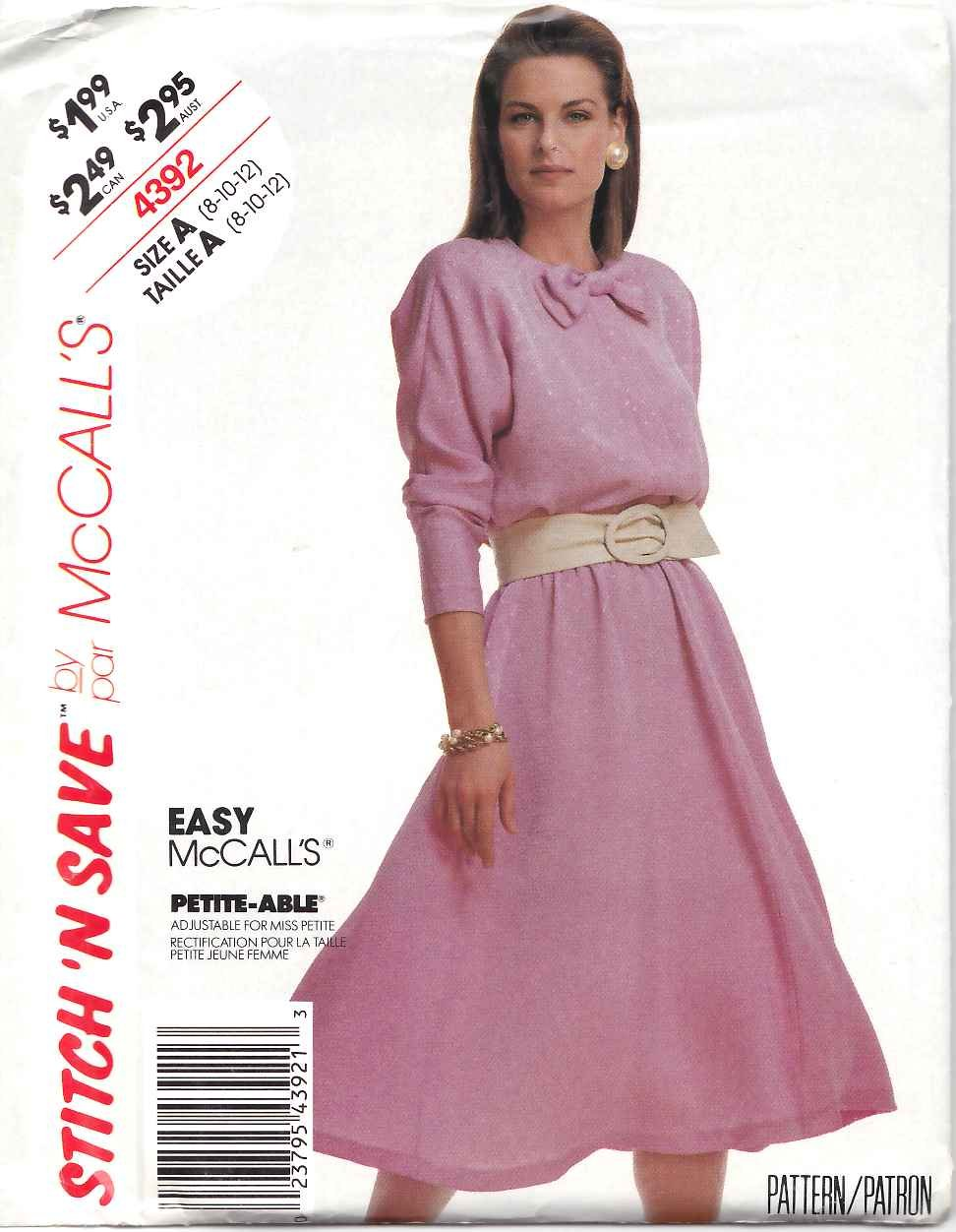 Galerry jersey flared dress pattern