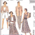 McCall's Sewing Pattern 4811 Misses Size 6-8 Easy Wardrobe Shirt Top Skirt Shorts Pants