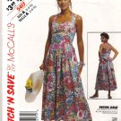 McCall's Sewing Pattern 5417 Misses Size 6-10 Sundress Crossover Back Straps Dress