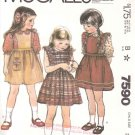 McCall&#39;s Sewing Pattern 6673 7590 Girls&#39; Size 2 Classic Pinafore Style Sundress Jumper Blouse