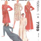 McCall&#39;s Sewing Pattern 7789 Misses Size 10-12 Button Front Wrap Long Short Bathrobe Robe