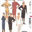 McCall's Sewing Pattern 9381 Misses Size 10 Easy Long Short Formal Dress Back V-Neckline Details