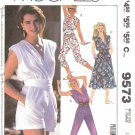McCall's Sewing Pattern 9573 Misses Size 10 Easy Jumpsuit Romper Sleeveless Dress Brooke Shields