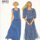 Simplicity Sewing Pattern 9823 Misses Size 10-20 Easy Button Front Bodice Full Skirt Dress