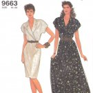 Simplicity Sewing Pattern 9663 Misses Size 10-20 Easy Straight Full Skirt Surplice Bodice Dress