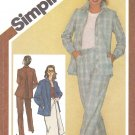 Simplicity Sewing Pattern 9770 Misses Size 10 Wardrobe Button Front Jacket Wrap Skirt Pants