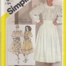 Simplicity Sewing Pattern 5360 Misses Size 8 Embroidered Full Skirt Blouse Lace Embellishment