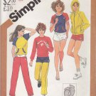 Simplicity Sewing Pattern 5517 Junior Size 5/6-7/8 Hang Ten Knit Wardrobe Pants Short Top Jacket