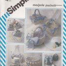 Simplicity Sewing Pattern 5743 Marjorie Puckett String Quilted Dresser Accessories