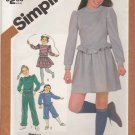 Simplicity Sewing Pattern 5771 Girls Size 8-10 Knit Wardrobe Pants Kickers Mini-Skirt Tops