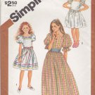Simplicity Sewing Pattern 6041 Girls Size 10 Pullover Dress Full Skirt Sleeve Length Options