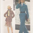 Simplicity Sewing Pattern 6603 Misses Size 10 Unlined Jacket A-Line Skirt Pants Pantsuit