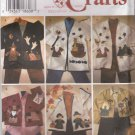 Simplicity Sewing Pattern 7032 Misses Size 6-10 Knit Fleece Jacket Seasonal Appliques