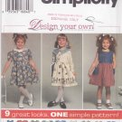 Simplicity Sewing Pattern 7097 Girls Size 3-6 Classic Dress Collar Sleeve Pocket Options