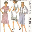 McCall's Sewing Pattern 7440 Misses Size 10 Pullover Shirtwaist Button Front Bodice Dress Vest