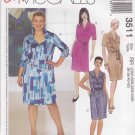 McCall's Sewing Pattern 3511 Womens Plus Size 26W-32W Easy Button Front Straight Shirt Dress