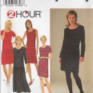Simplicity Sewing Pattern 7335 Misses Size 6-16 2 Hour Classic Knit Dress Sheath Dropped Waist