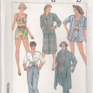 Simplicity Sewing Pattern 7380 Misses Size 6-10 Easy Summer Wardrobe Shorts Pants Dress Cropped Top