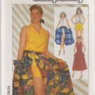 Simplicity Sewing Pattern 7384 Misses Size 6-10 Easy Summer Outfit Skirt Shorts Sleeveless Top