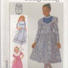 Simplicity Sewing Pattern 7401 Girls Size 7 Gunne Sax Full Skirt Dress Sleeve Collar Options