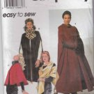 Simplicity Sewing Pattern 7438 Misses Size 6-16 Easy Hooded Lined Capes Wrap Shawl Scarf