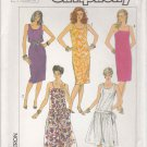 Simplicity Sewing Pattern 7494 Misses Size 6-10 Easy Summer Sundress Sleeveless Straight Dress