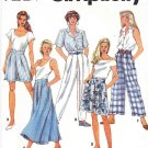 Simplicity Sewing Pattern 7777 Misses Size 6-10 Front Pleated Pants Shorts Long Short Skirt