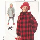 Simplicity Sewing Pattern 7868 Girls Size 2-12 Long Sleeve Hooded Unlined Jacket Coat