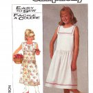 Simplicity Sewing Pattern 8039 Girls Size 8-12 Easy Classic Dropped Waist Sleeveless Dress Collar