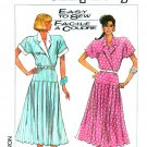 Simplicity Sewing Pattern 8060 Misses Size 8 Easy Short Sleeve Dropped Pleated Skirt Dress