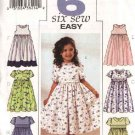 Butterick Sewing Pattern 3762 Girls Size 2-5 Easy Classic Raised Waist Full Skirt Dresses