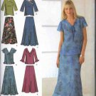 Simplicity Sewing Pattern 4221 Misses Size 10-18 Easy Pullover Tops Skirts