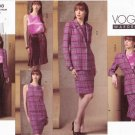 Vogue Sewing Pattern 2888 Misses Size 6-8-10 Easy Wardrobe Dress Jacket Pants Top Skirt