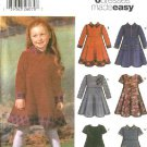 Simplicity Sewing Pattern 5827 Girls Size 3-8 Easy Dress Sleeve Collar Trim Options