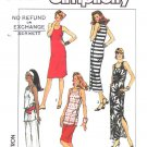 Simplicity Sewing Pattern 8159 Misses Size 6-12 Knit Dress Top Skirt Side Button Closing